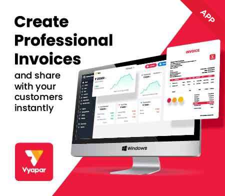 Customize invoice with Vyapar app