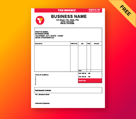 GST Invoice formats